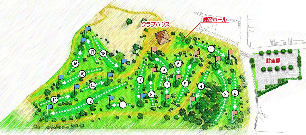 コースの紹介マップ